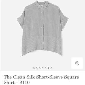 Everlane Clean Silk Square Shirt